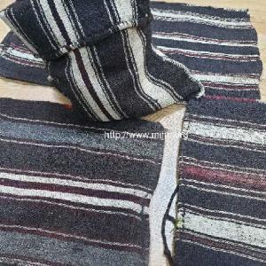 ウル山脈ケレス遊牧民のナチュラルゴートの織物