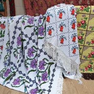 トルコのエタミン刺繍のヴィンテージクロス