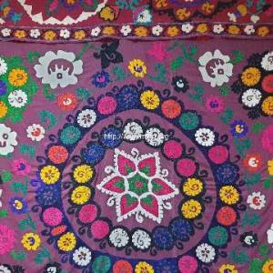 ソビエト時代のウズベキスタンのスザニ刺繍