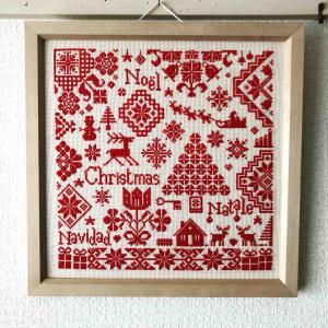 【手芸】クリスマスのクロスステッチ