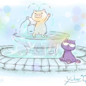 今日は噴水の日