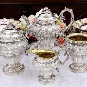 1833年制作 純銀製 ジョージアン 特級レベル ティー&コーヒー4点セット