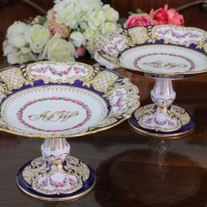 アンティーク陶磁器 ヴィクトリア女王 四女ルイーズ王女ご成婚記念ケーキスタンド