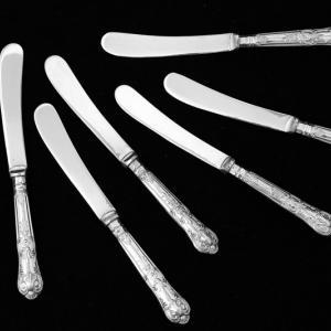 純銀/シルバープレート 1928年 クイーンズパターン ティーナイフセット