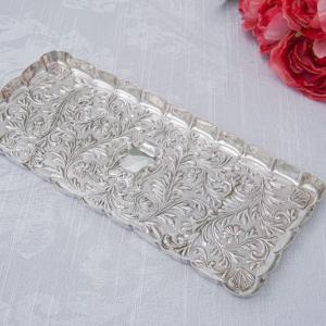 純銀製(925) 1904年 マッピン&ウェッブ リボン、お花と葉模様彫刻 ヴァニティートレイ