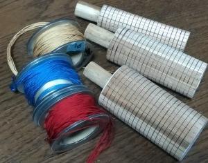 網袋の筒と糸