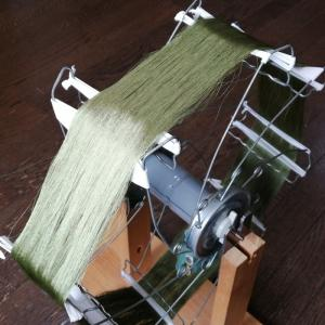 糸の巻き取り