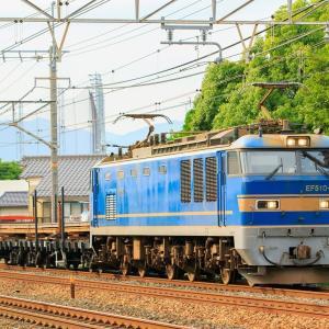 EF510-503牽引 9561レ レール輸送臨を撮影