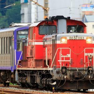 DD51-1193+キハ120-15 亀山配給 を撮影