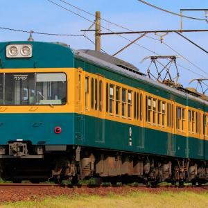 三岐鉄道リバイバル塗装列車を撮影