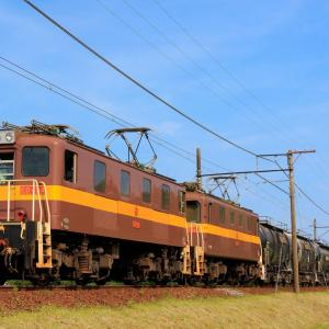 三岐鉄道貨物列車を撮影