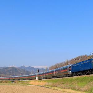 EF64-37牽引 信州カシオペア号を聖高原~坂北にて撮影