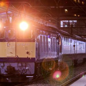EF64-37牽引 信州カシオペア号を茅野駅にて撮影
