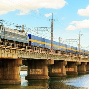 EF66-27牽引 2059レ西濃貨物を瀬田川にて撮影