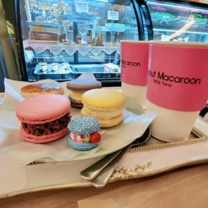 韓国の可愛いマカロンカフェに行ってきました