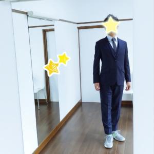 スーツ姿もばっちりと!!