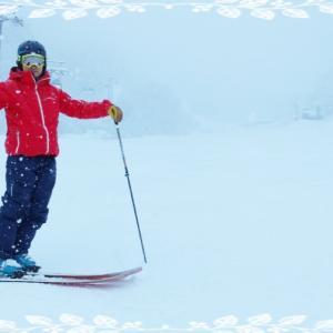 スキー板がしなる位置!!
