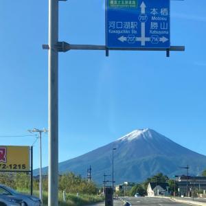 寒いわけだ…富士山初冠雪