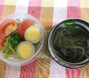 *小松菜の中華スープ弁*