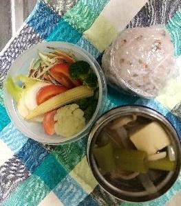 *高野豆腐とシメジの味噌汁弁* と ハーレー再び!