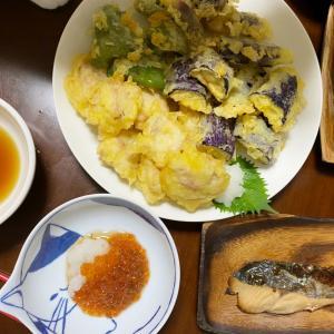 *夜ご飯と天ぷら弁*