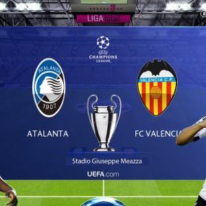 ◆UCL◆R16-2nd アタランタxバレンシア アタランタ4発!バレンシアの反撃を1Gに抑え先勝!