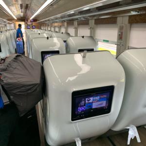 初めての電車の旅なのに。。。