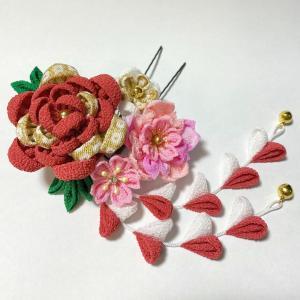 【オンラインショップ】牡丹と桜のコームかんざし追加しました♡