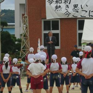 台風前の運動会