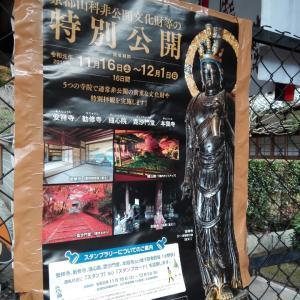 11月20日 特別公開の安祥寺(京都市)でいただいた御朱印