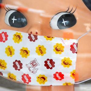 ペコちゃんのマスク姿『そうだ 鎌倉、行こう』