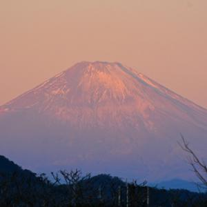 1月9日 ② 『自宅から90km先の富士 2021』