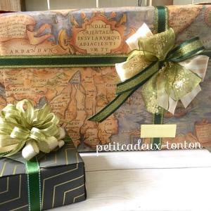 同じ方へ、もう1件別のプレゼントをお包みさせて頂いてます♪別々にラッピングと言う事で、...