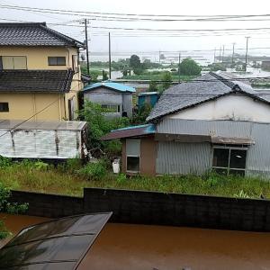 雨凄い!冠水((((;゜Д゜)))