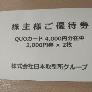 [2021株主優待]日本取引所グループ