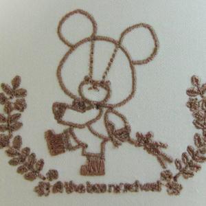 極小文字の試縫い