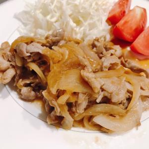 豚の生姜焼きと秋刀魚