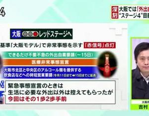吉村知事生出演「赤信号・医療緊急事態宣言:迫る医療倒壊、深刻な看護師不足」