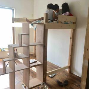 【2Fセルフリノベーション】ロフトベッドの階段シェルフを作る。