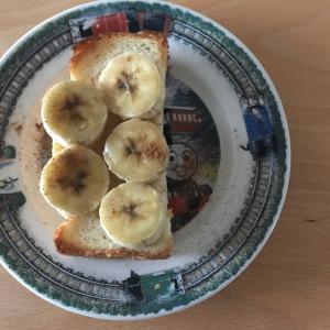 バナナしなもんトースト
