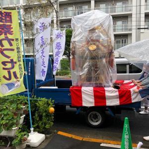 今年の白鬚神社のお祭りは御神輿を町内がまわるだけでした。