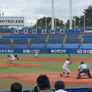 高校野球観戦に、母校の雪谷高校野球部の試合観戦記。