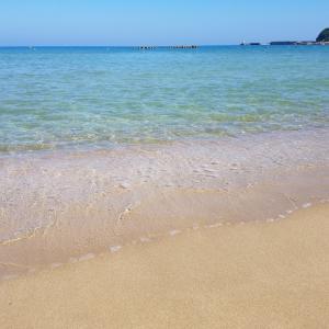 暑い!けど、海は最高です(^v^)