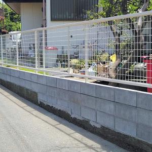 ブロック塀の撤去と新規アルミフェンスの施工