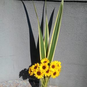 暑い!生け花とアレンジメント♪