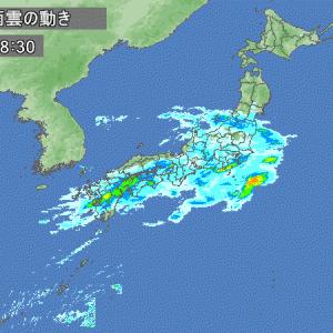 雨が続くようです。