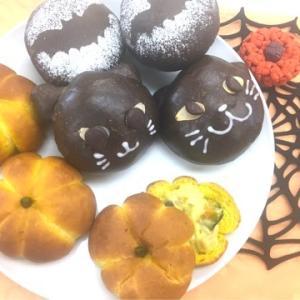 ハロウィンクリームパン&かぼちゃのシチューポット