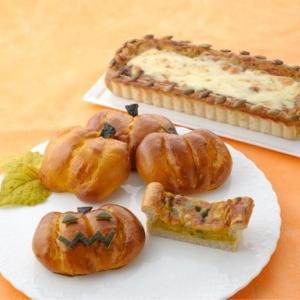 ハロウィン かぼちゃのクリームキッシュ&かぼちゃのカスタードパン