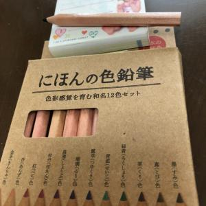綺麗な百均の色鉛筆。