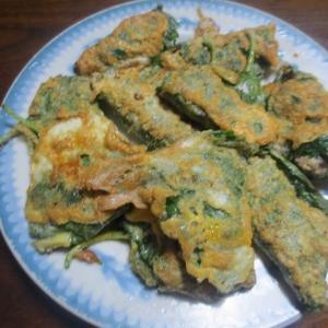 えごまの葉で料理、かやくご飯、刺身など